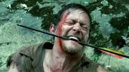 Daryl getting ready to kill a walker