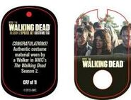 The Walking Dead - Dog Tag (Season 2) - Walker CR7 (AUTHENTIC WORN COSTUME PIECE)