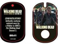 The Walking Dead - Dog Tag (Season 2) - Walker CR10 (AUTHENTIC WORN COSTUME PIECE)