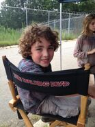 Luke on set