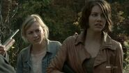 Beth and Maggie worrying about the group