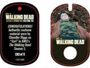 The Walking Dead - Dog Tag (Season 2) - Chandler Riggs CR3 (AUTHENTIC WORN COSTUME PIECE)