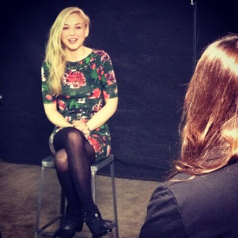 File:Emily Kinney adorable flower dress interview.jpg
