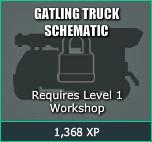 Gatling Truck Schematic - Requires Level 1 Workshop2