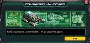 Crusader unlock
