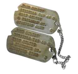 John Giltoy's Bataan Death March Dogtags