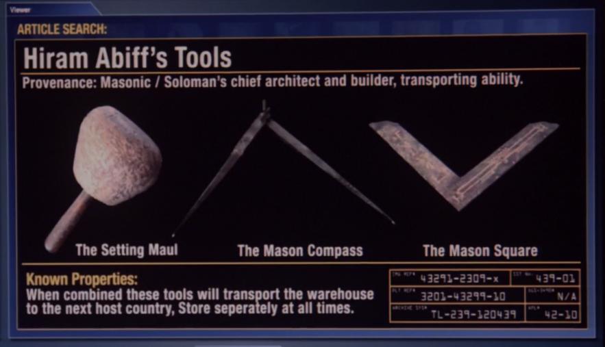 hiram abiffs tools warehouse 13 wiki fandom powered