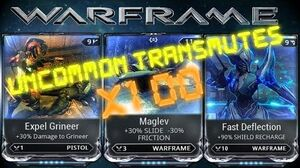 Warframe - Transmuting Uncommon Mods 100 Times