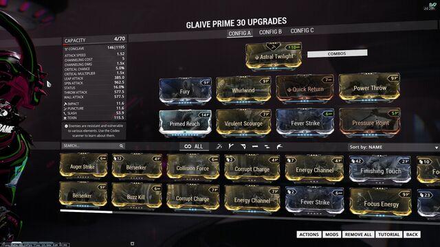 Glaive Prime Build