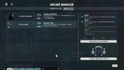 Arcane Manager