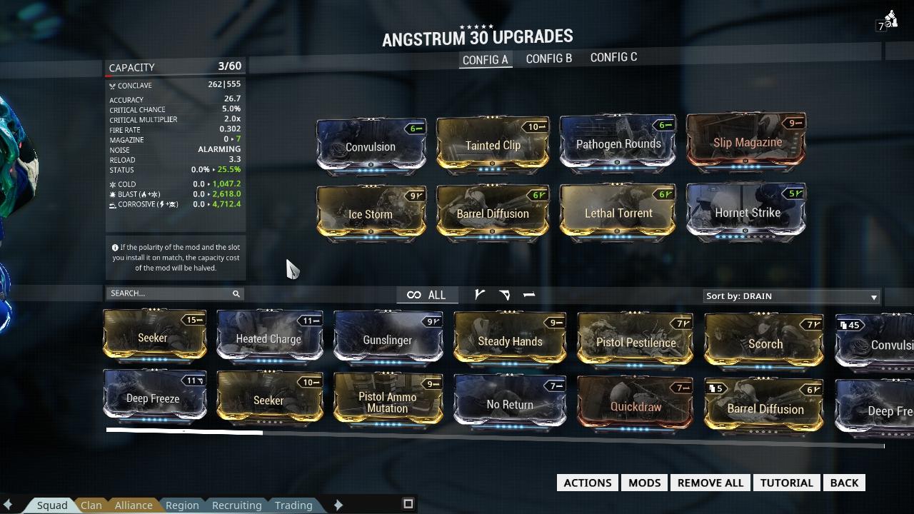 Warframe starting slots