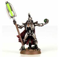 Necron lord with Resurrectio nOrb