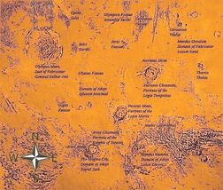 Mars Tharsis Map
