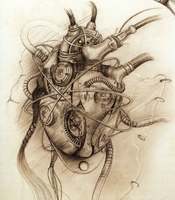 Mechanicum Thallax sketch heart
