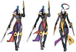 Harlequin Players Troupe Markings