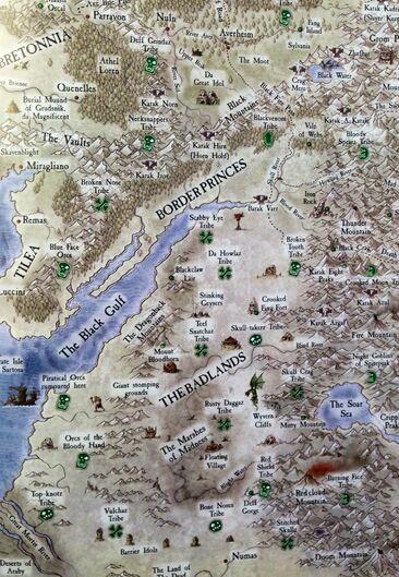Badlands Map detailed