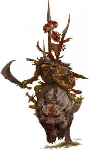 Hobgoblin Wolf Raider Colour Tamurkhan Adrian Smith Illustration
