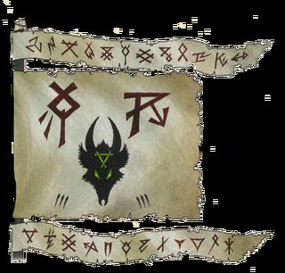 Warhammer Clan Skyre Banner
