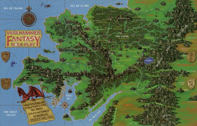Mapa map warhammer fantasy viejo mundo old world