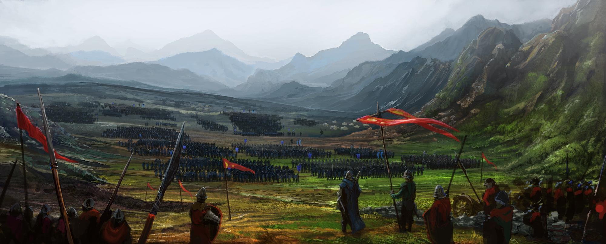 Fantasy war landscape - photo#1
