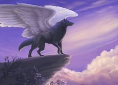 Winged Wolf (Wolf with Wings, Flying Wolf, Pterolykos, Pterolycus)