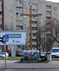 Grochowska, Międzyborska (krzyż przydrożny).JPG