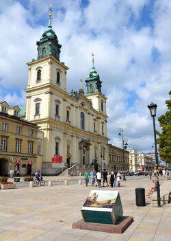 Krakowskie Przedmieście Bazylika Św. Krzyża.JPG