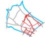 Schemat ścieżek rowerowych na Bielanach