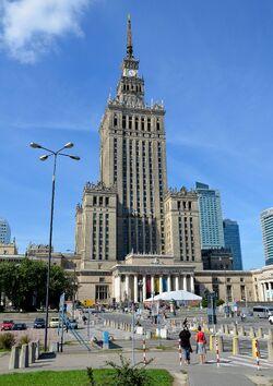 Pałac Kultury i Nauki od strony Marszałkowskiej.JPG