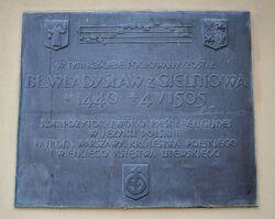 Tablica bł. Władysław z Gielniowa kościół św. Anny.JPG