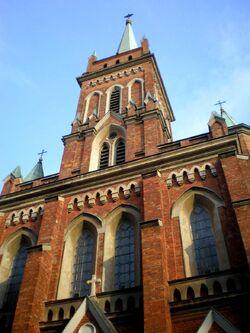Kościół Wniebowzięcia NMP (Trakt Lubelski, fasada).JPG