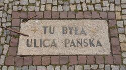Park Świętokrzyski (tablica, tu była ulica Pańska).JPG
