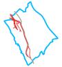 Schemat ścieżek rowerowych w Wilanowie