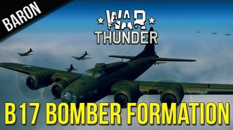 War Thunder Gameplay - War Thunder - B-17 Flying Fortress Bomber Formation in Historical Battle