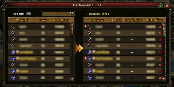 Guild Battle Participants List 2