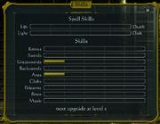 Skills window