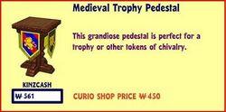 Medieval Trophy Pedestal