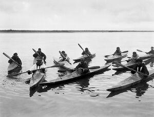Inuits in Kayaks 1929.jpg
