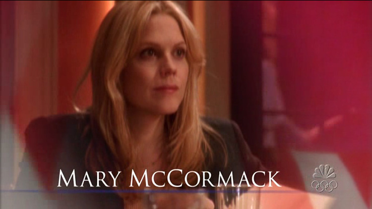 Mary McCormack the west wing