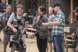 Cinematographer Paul Cameron behind scenes