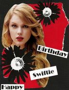 Swiftie birthday from perry