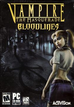 Vampire The Masquerade - Bloodlines cover usa