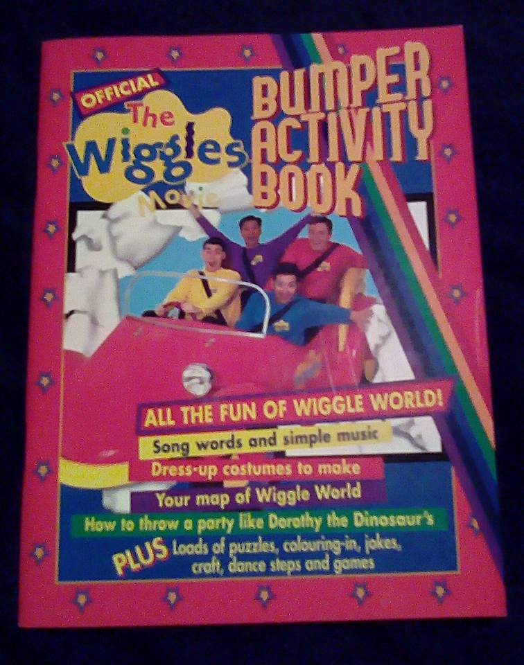 the wiggles movie bumper activity book is a special book that everyone can learn and color pictures its designed by kaye binns mcdonald with illustrations