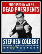 Deadpresidents endorsement stephen colbert 2012