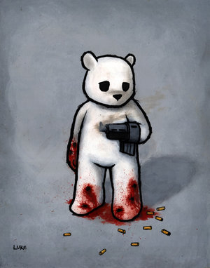 File:Bear with Gun Hand Bad Idea by Luke Chueh.jpg