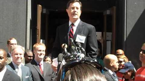 Stephen Colbert Addresses Crowd At FEC