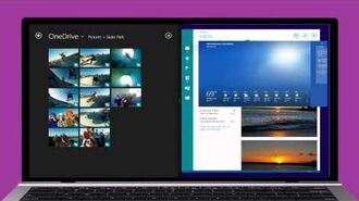 Windows 8.1 Using apps together