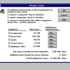 Windows 3.1 setup.