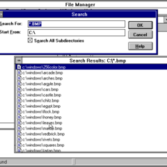 Windows 3.1 Search.