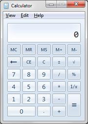 Calculator on Windows 7